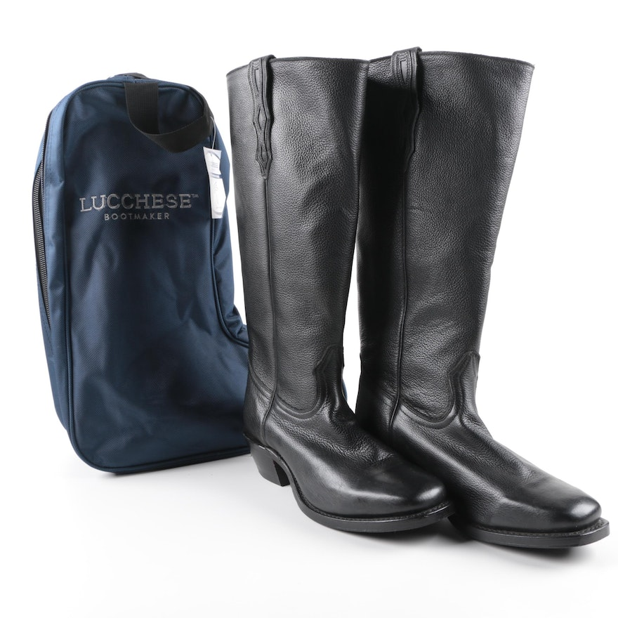 Men S Boulet Western Boots With Lucchese Boot Bag