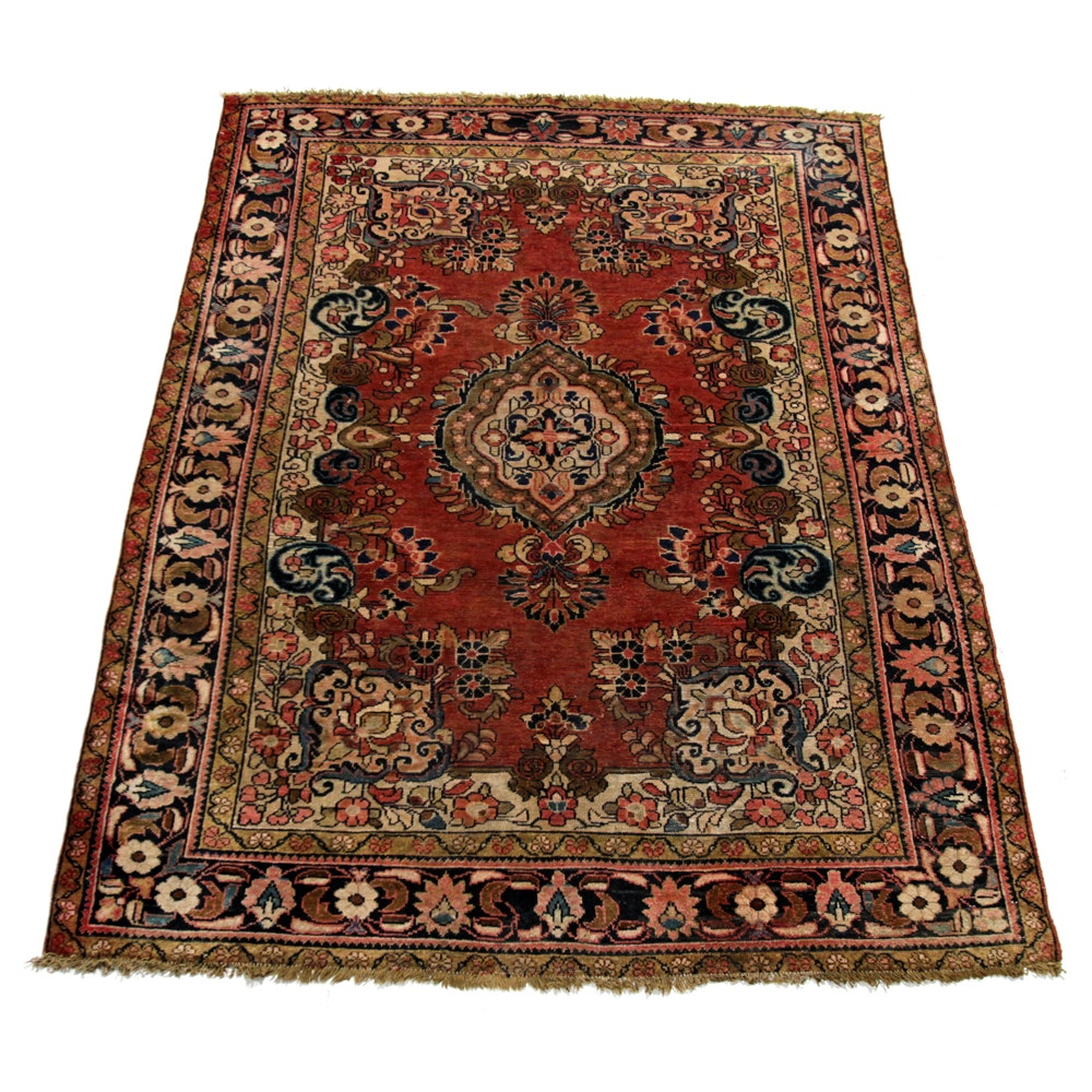 Hand-Knotted Persian Malayer Area Rug
