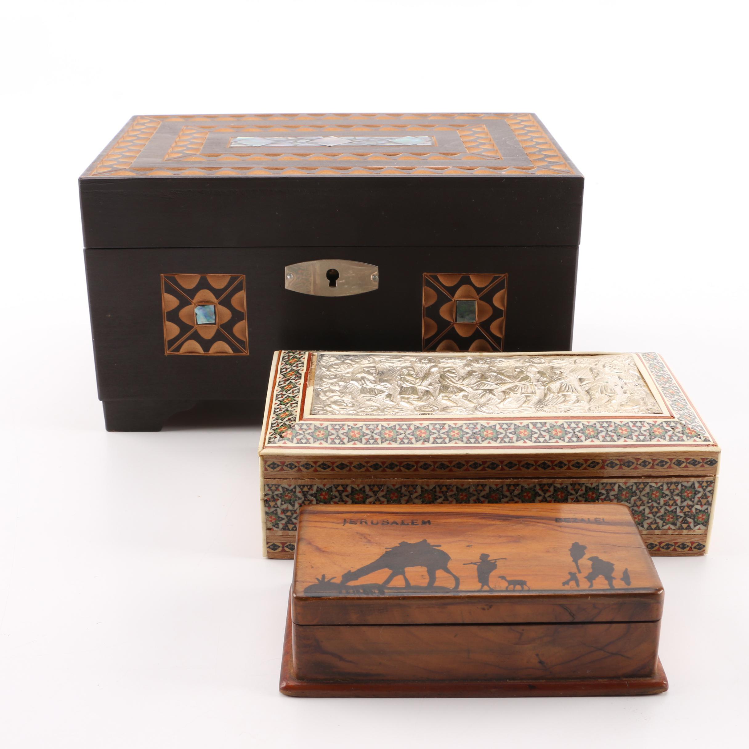 Lori Greiner Contemporary Style Wood Jewelry Box EBTH