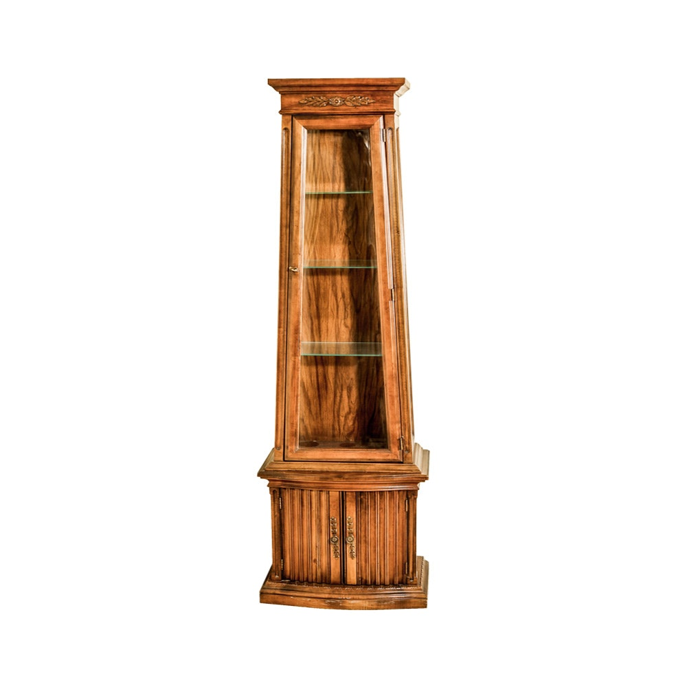 Vintage Graduated Curio Cabinet By Delwood Furniture Co.