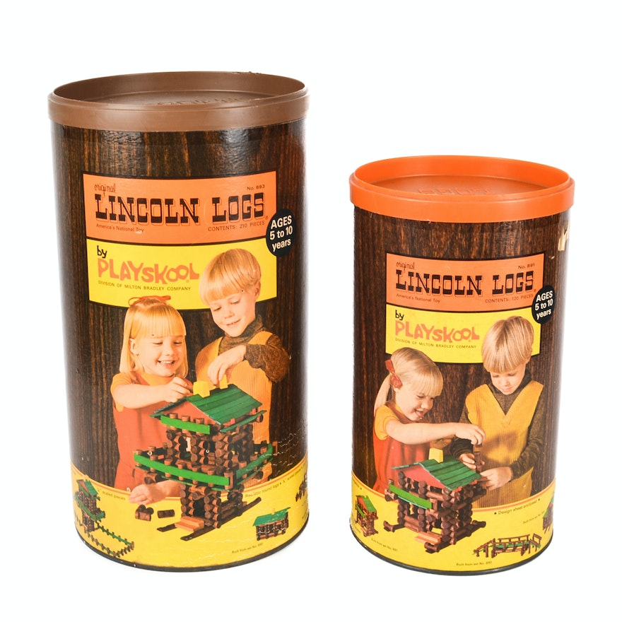 Vintage Lincoln Logs Sets Ebth