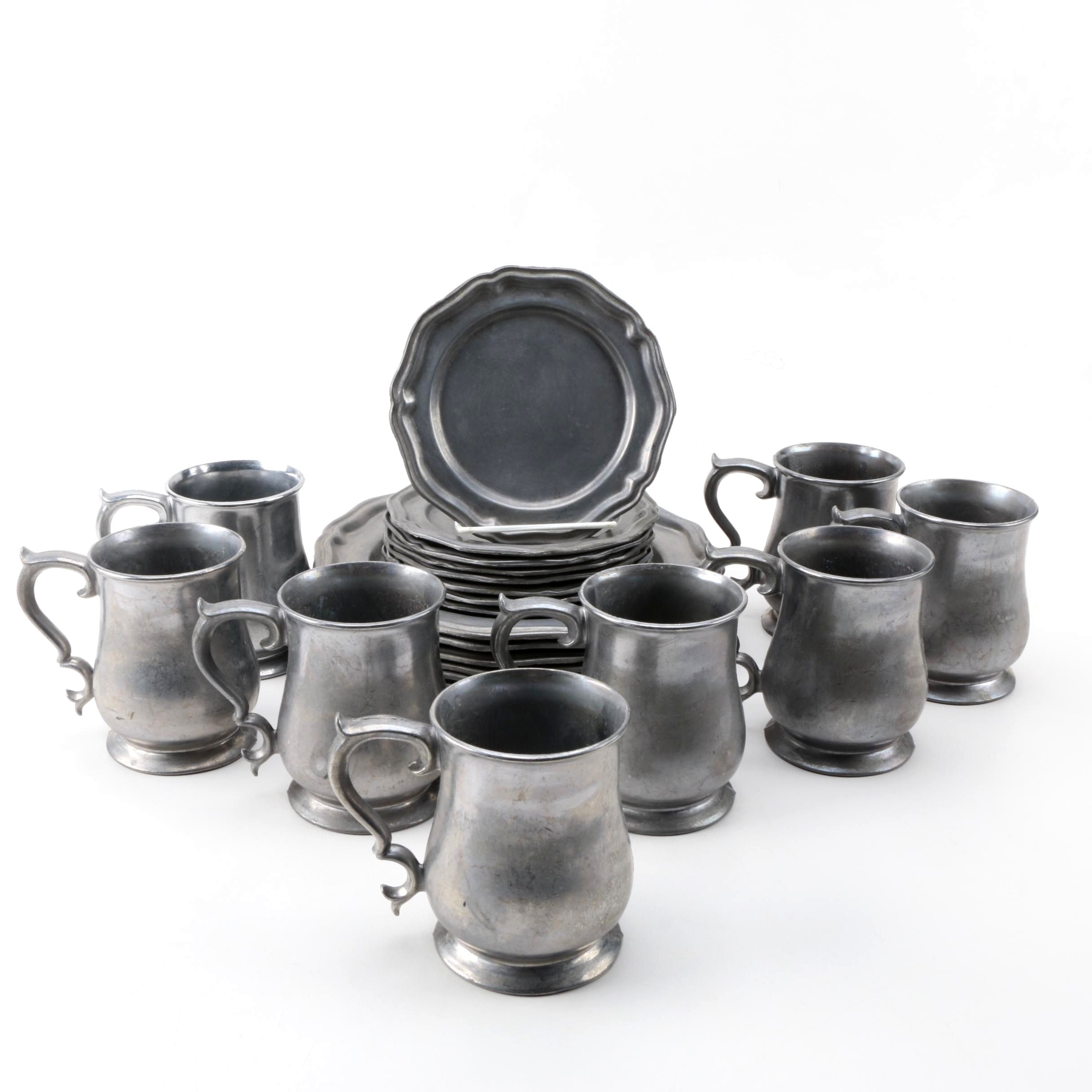 Crown - Castle Ltd. Pewter Tableware Set ...  sc 1 st  EBTH.com : pewter tableware - pezcame.com