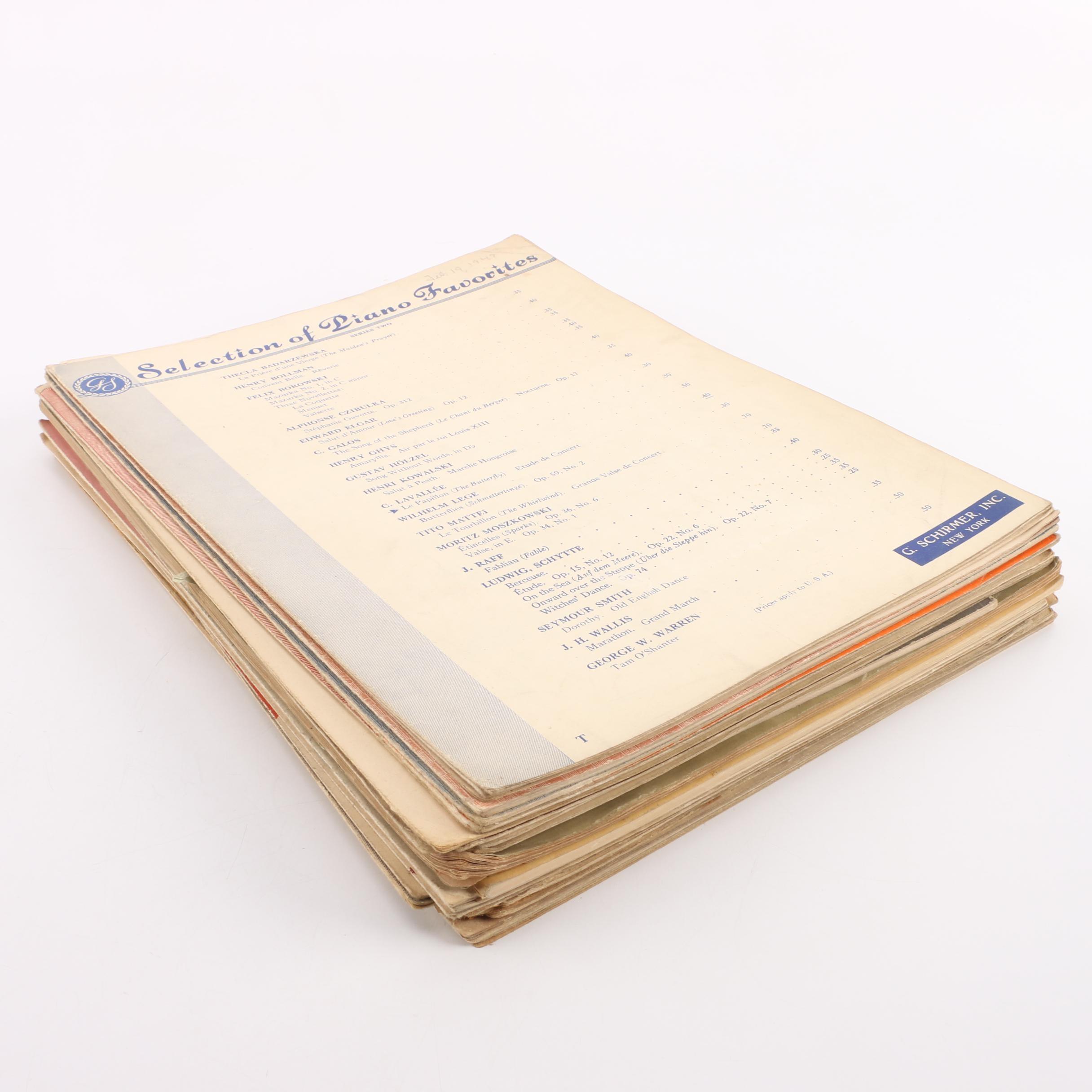 Classical Sheet Music Books