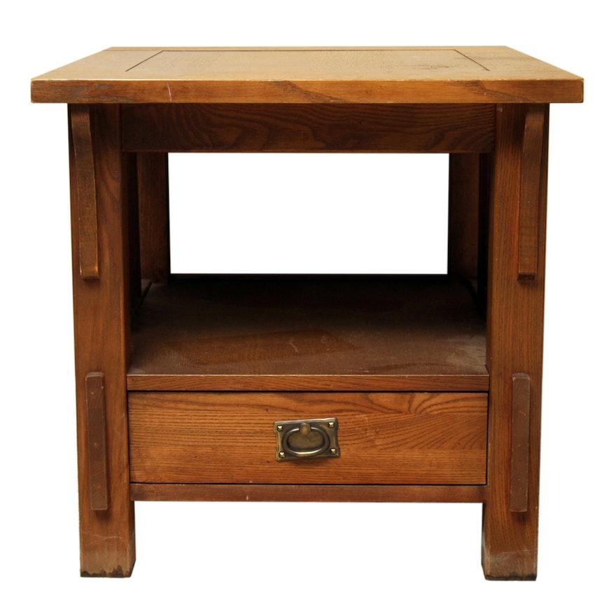 Mission Style Oak End Table By Bett