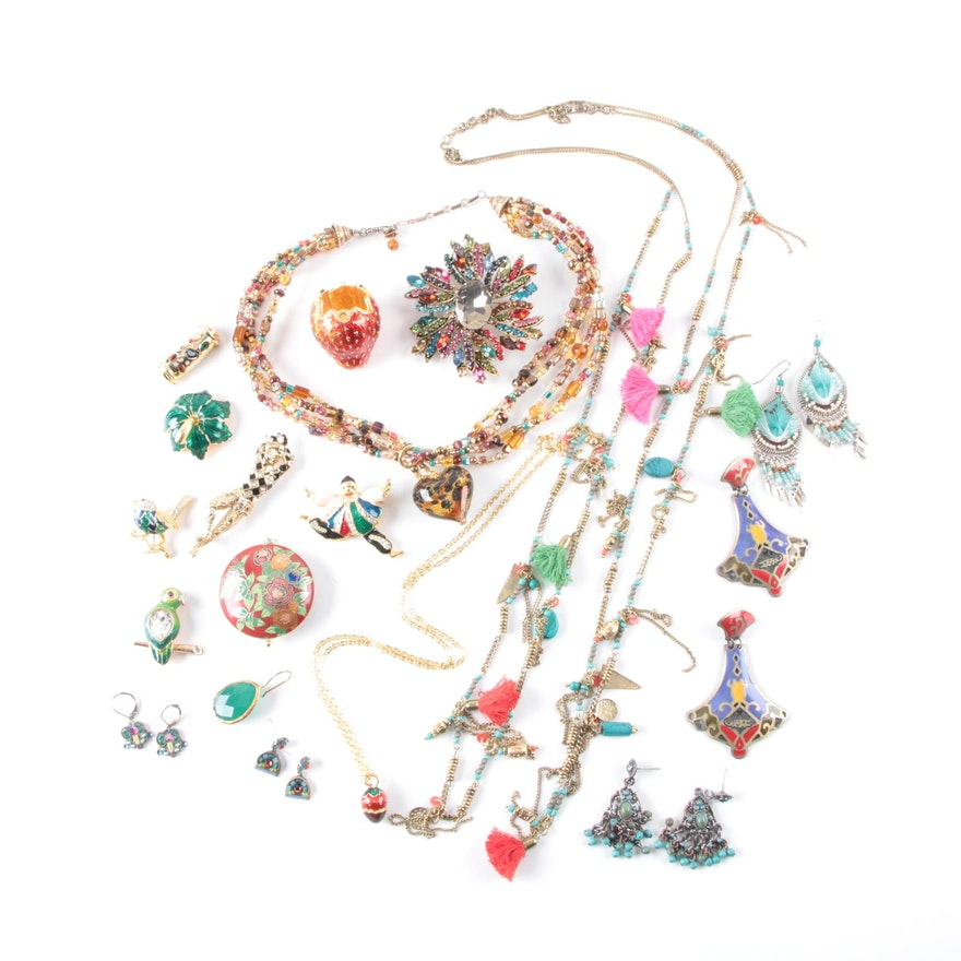 d0835acdd6d Assorted Costume Jewelry Including Swarovski Brooches : EBTH
