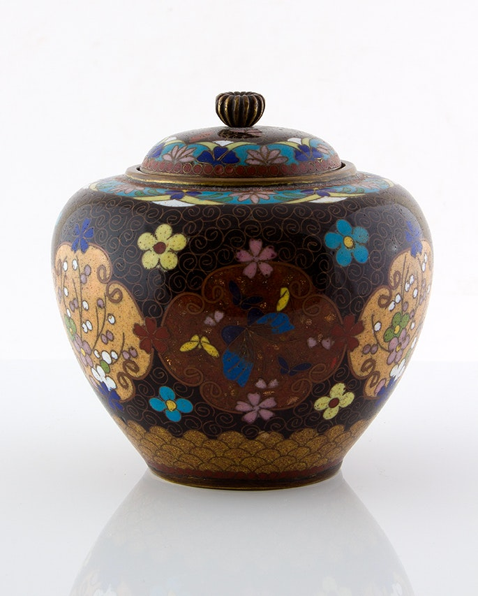Semi-Antique Cloisonné Ginger Jar