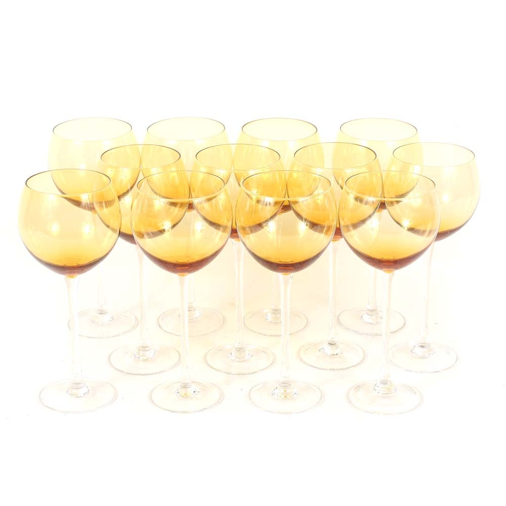 """Noble Excellence """"City Lights"""" Crystal Wine Goblets"""