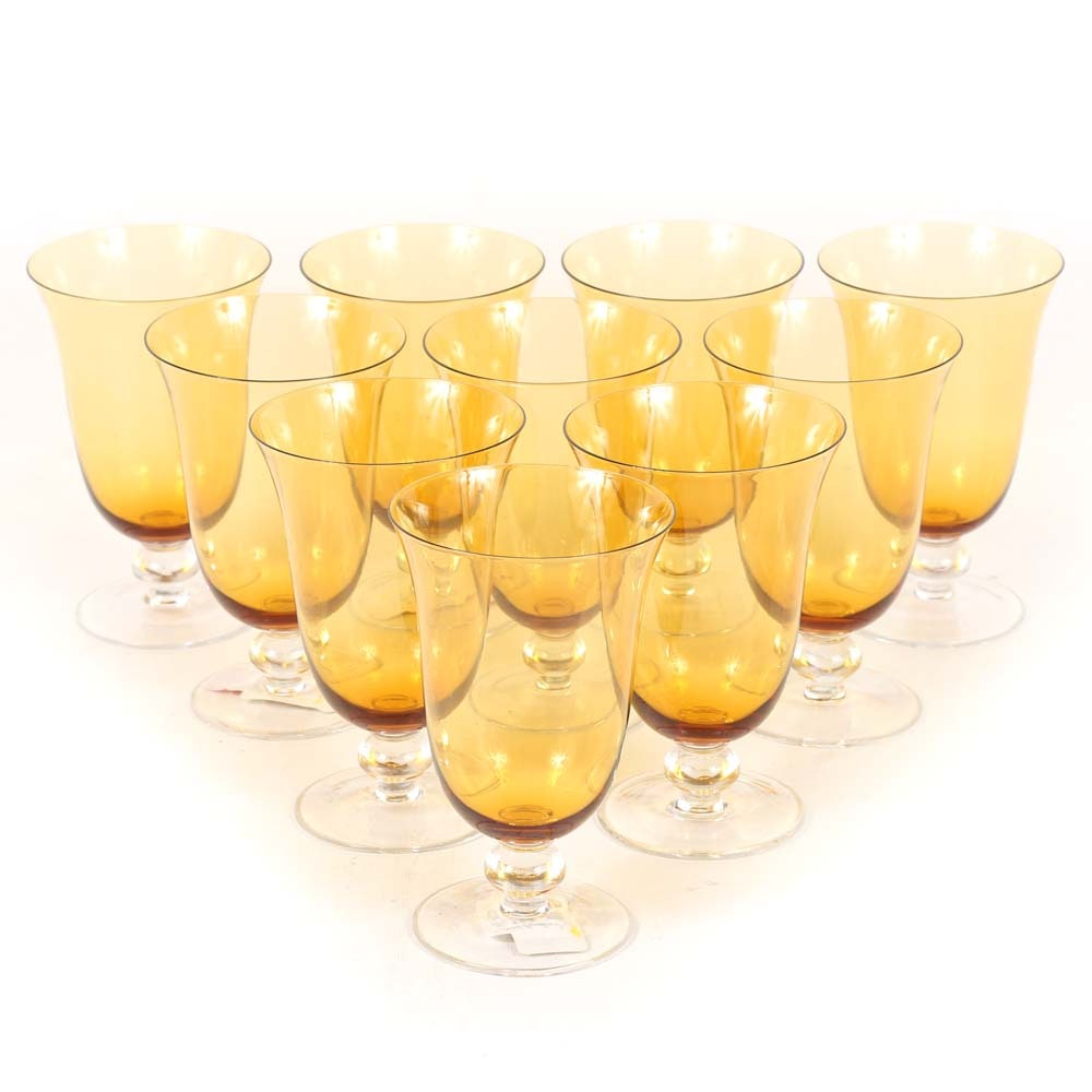 """Noble Excellence """"City Lights"""" Crystal Water Goblets"""