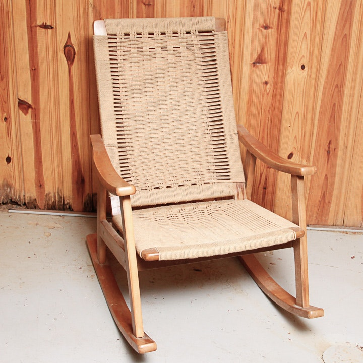Danish Modern Rocking Chair After Hans Wegner ...