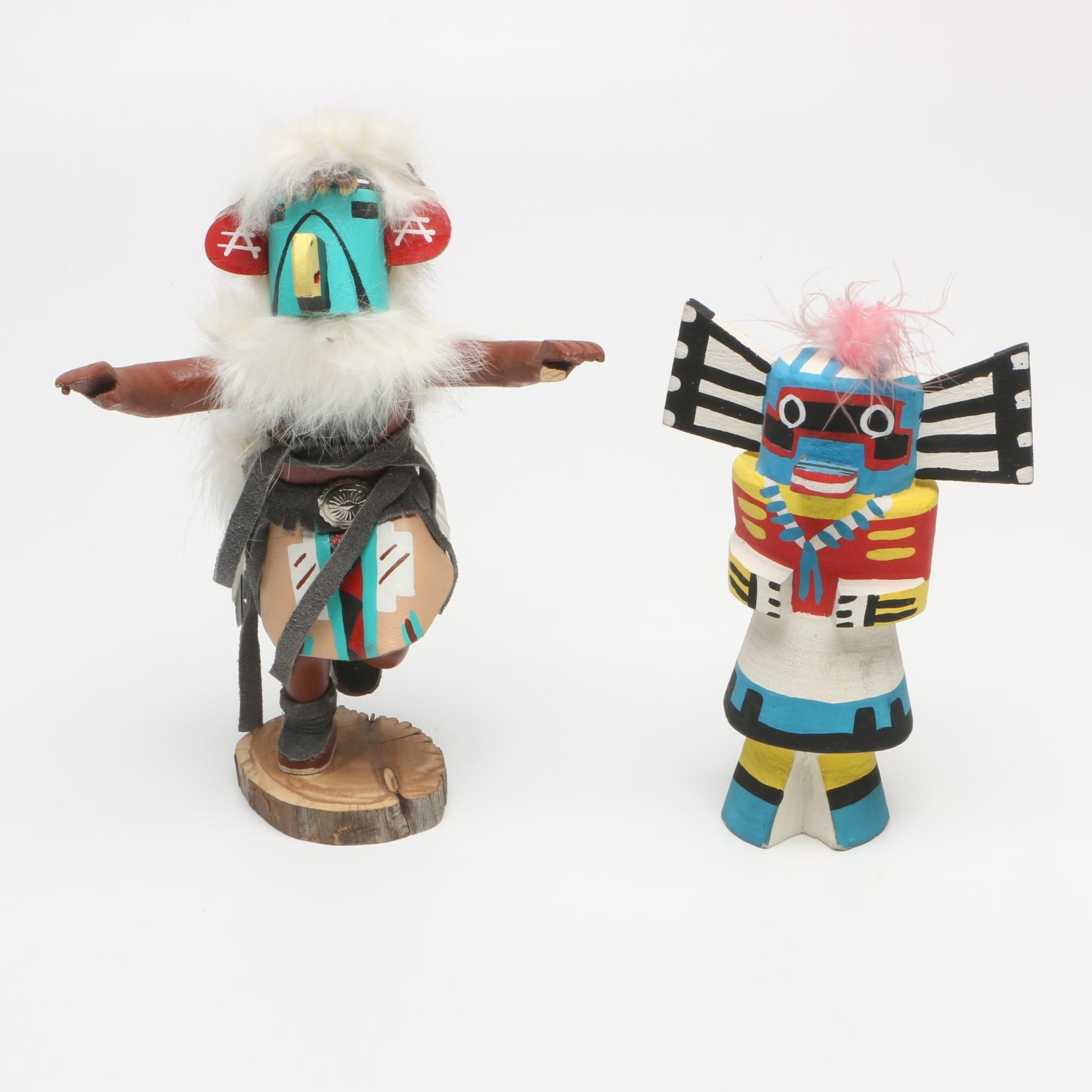 "Hand Crafted Hopi ""Eagle"" Kachina Dolls"