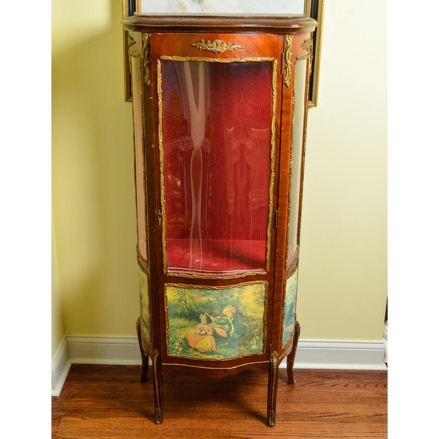 Vintage Louis XV Style Vitrine Cabinet : EBTH