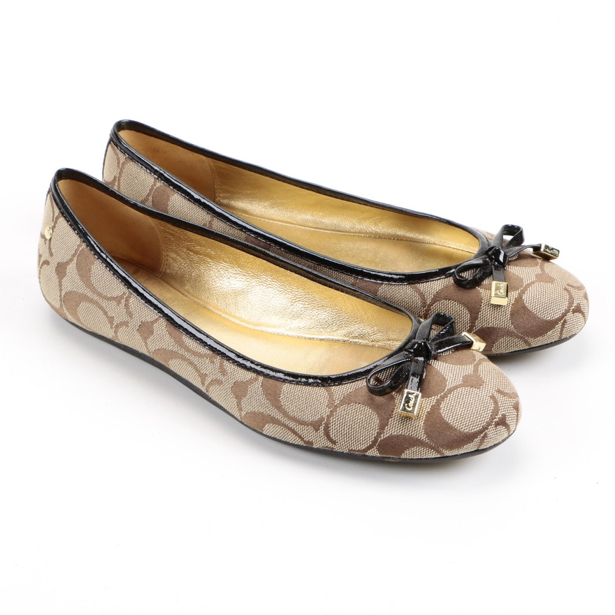 Coach Monogram Ballet Flats Free Shipping Low Shipping Official Clearance For Cheap Discount Ebay 7bHP6bA