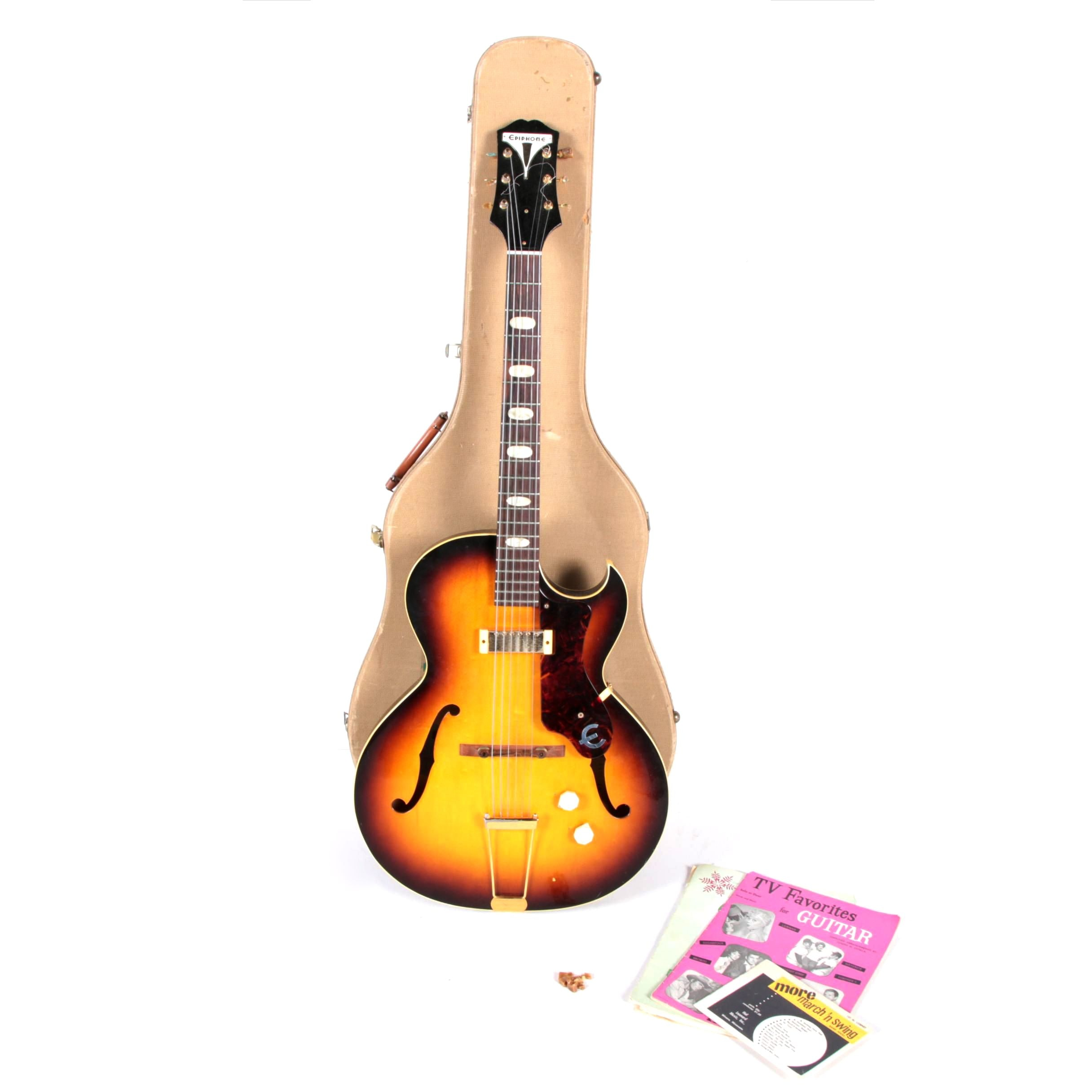 1960 Epiphone Electric Guitar Just Another Wiring Diagram Blog For Les Paul Tribute Windsor Hollow Body Ebth Rh Com Casino