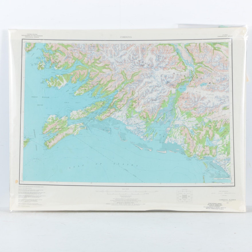 Topographical Map On Paper Of Alaska Ebth