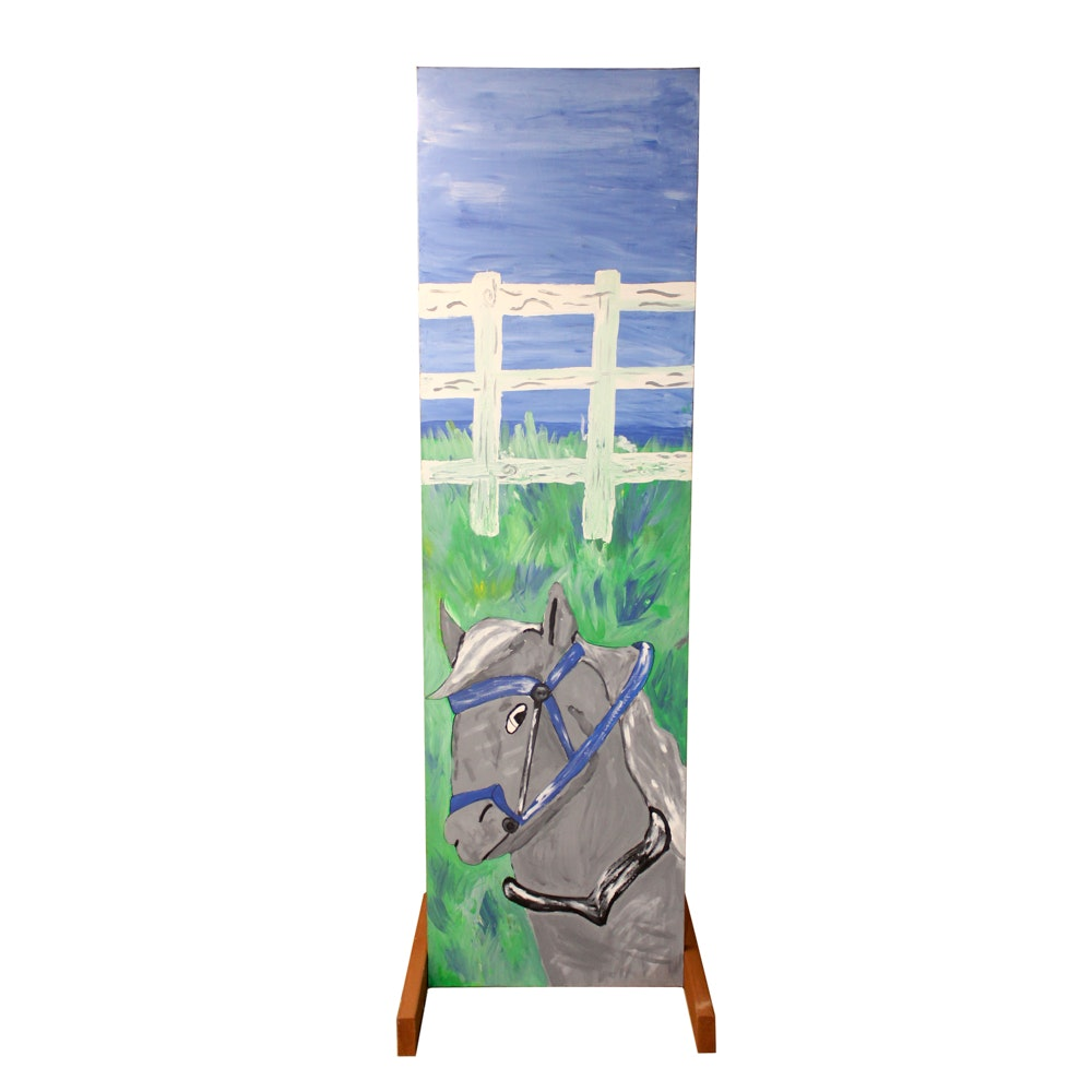 Double-Sided Painting of Horses