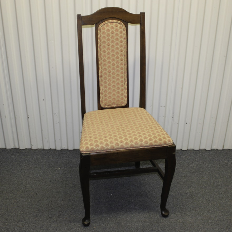 Vintage Queen Anne Style Side Chair ... - Vintage Queen Anne Style Side Chair : EBTH