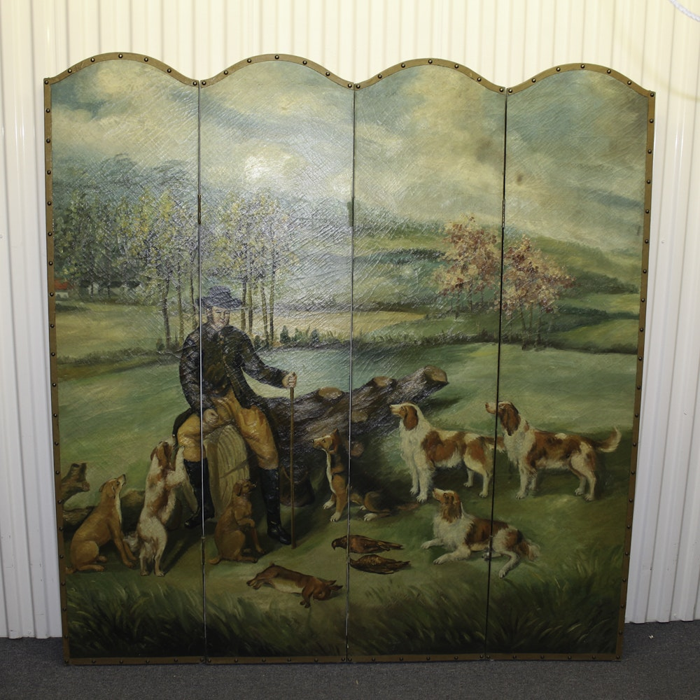 Hand Painted Screen Divider