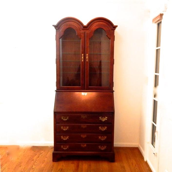 Vintage Mahogany Drop Front Secretary By Jasper Cabinet Company ...
