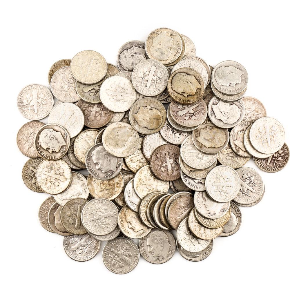 110 Roosevelt Silver Dimes