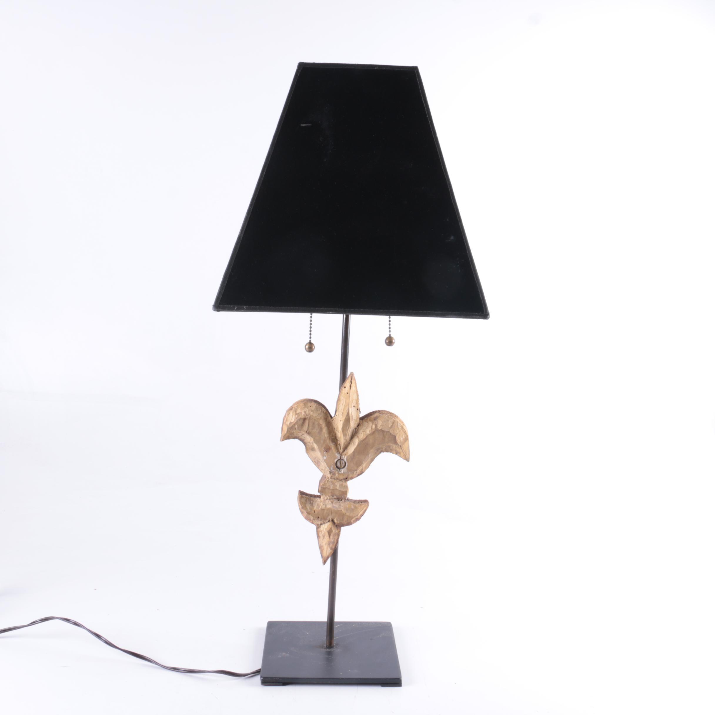Fleur De Lis Table Lamp Ebth