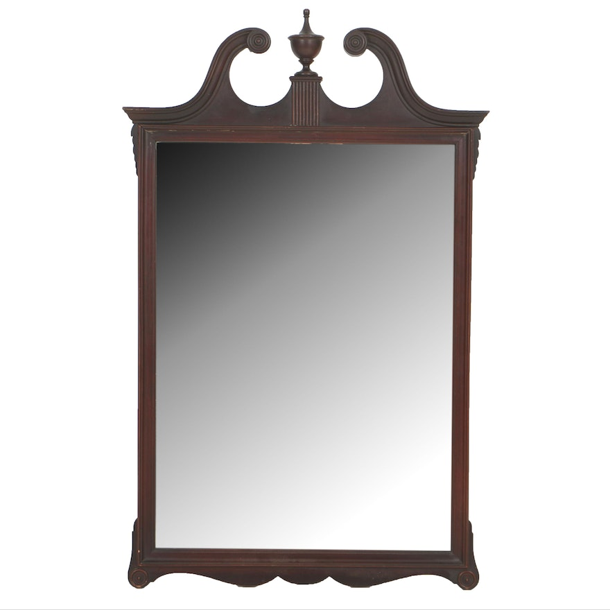 Chippendale Style Mahogany Wall Mirror Ebth