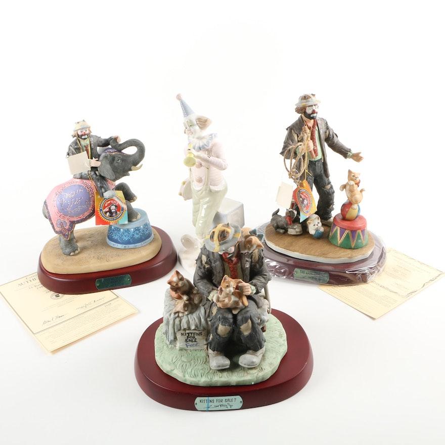 Design and Emmett Kelly Jr  Limited Edition Clown Figurines