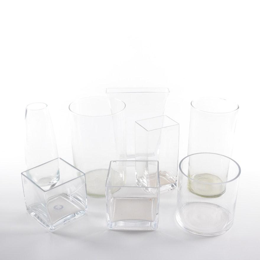 Assorted Glass Vases Ebth