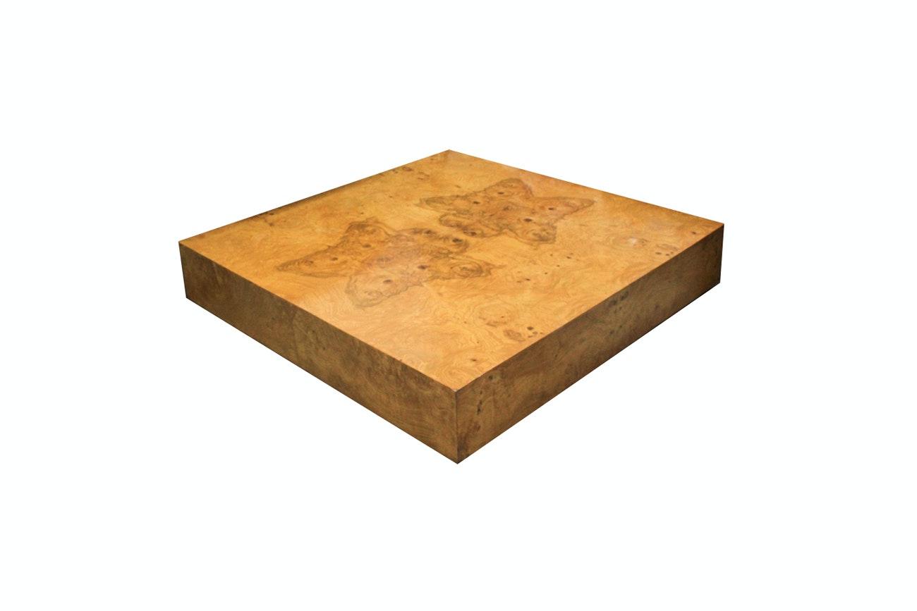 Mid Century Modern Burl Wood Coffee Table After Milo Baughman ...