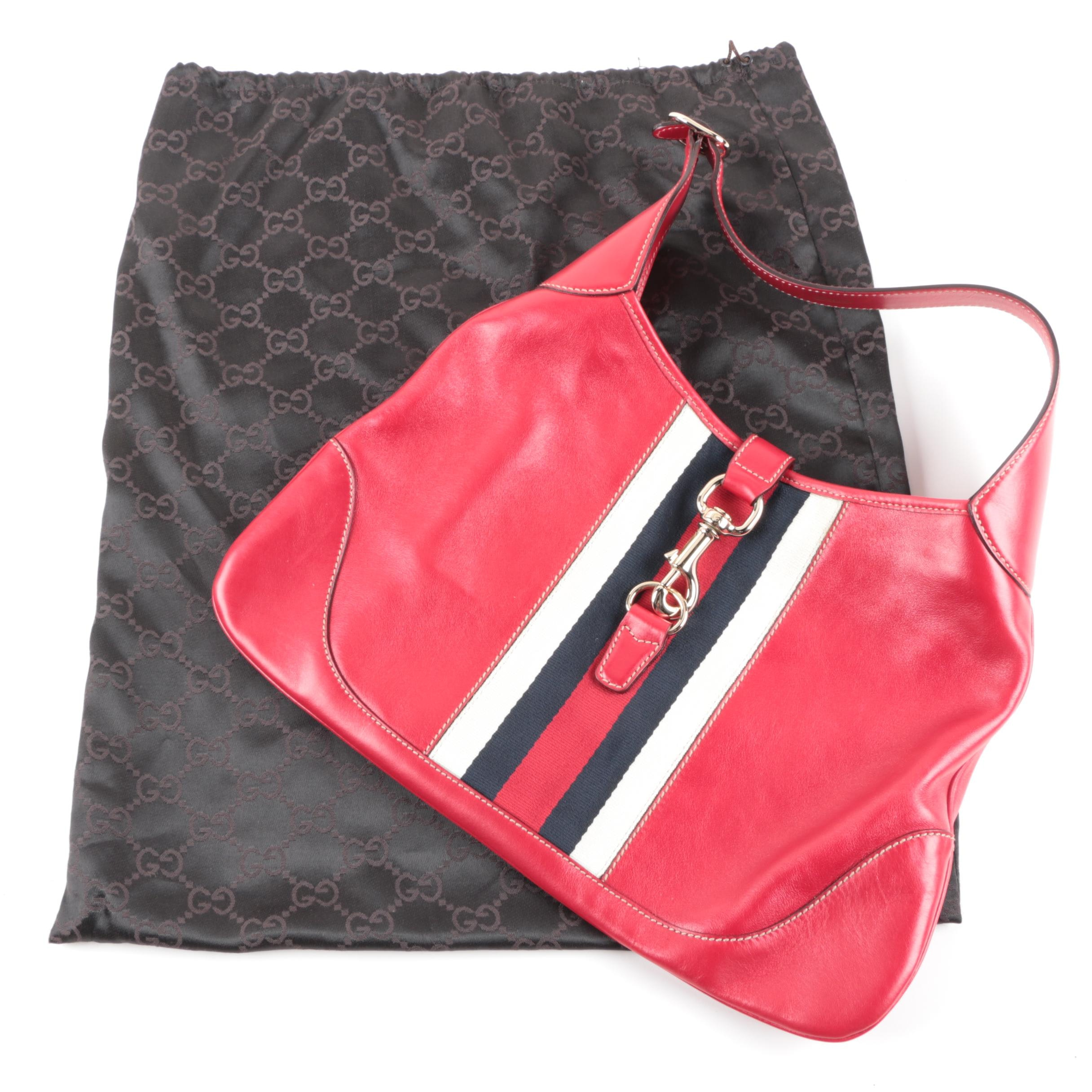Gucci Red Leather Handbag