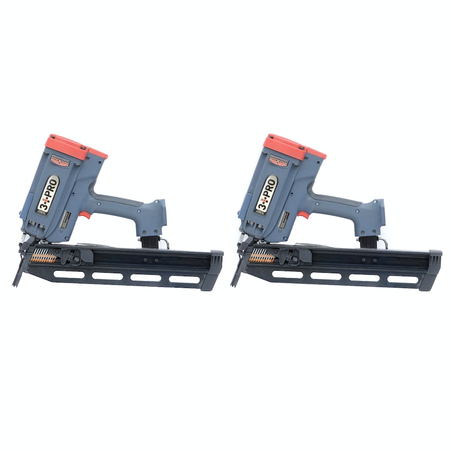 3 PRO 21 Degree Gas Powered Framing Nailers : EBTH