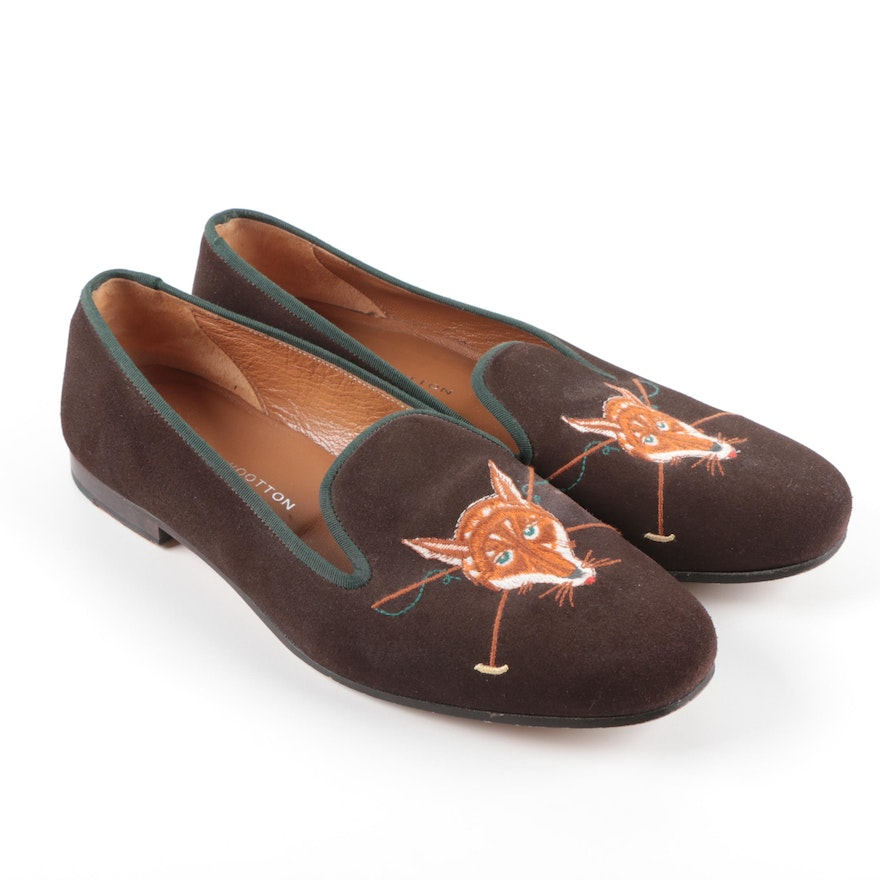 9e4676f11 Stubbs & Wootton Fox Embroidered Smoking Slippers : EBTH
