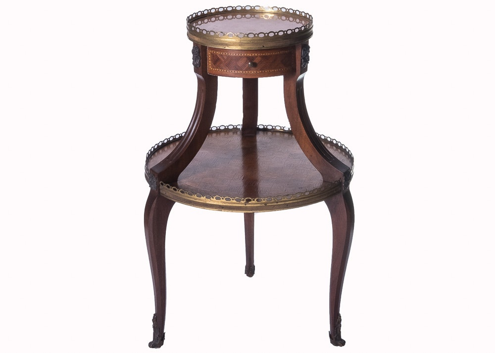 Louis XV Two-Tiered Table