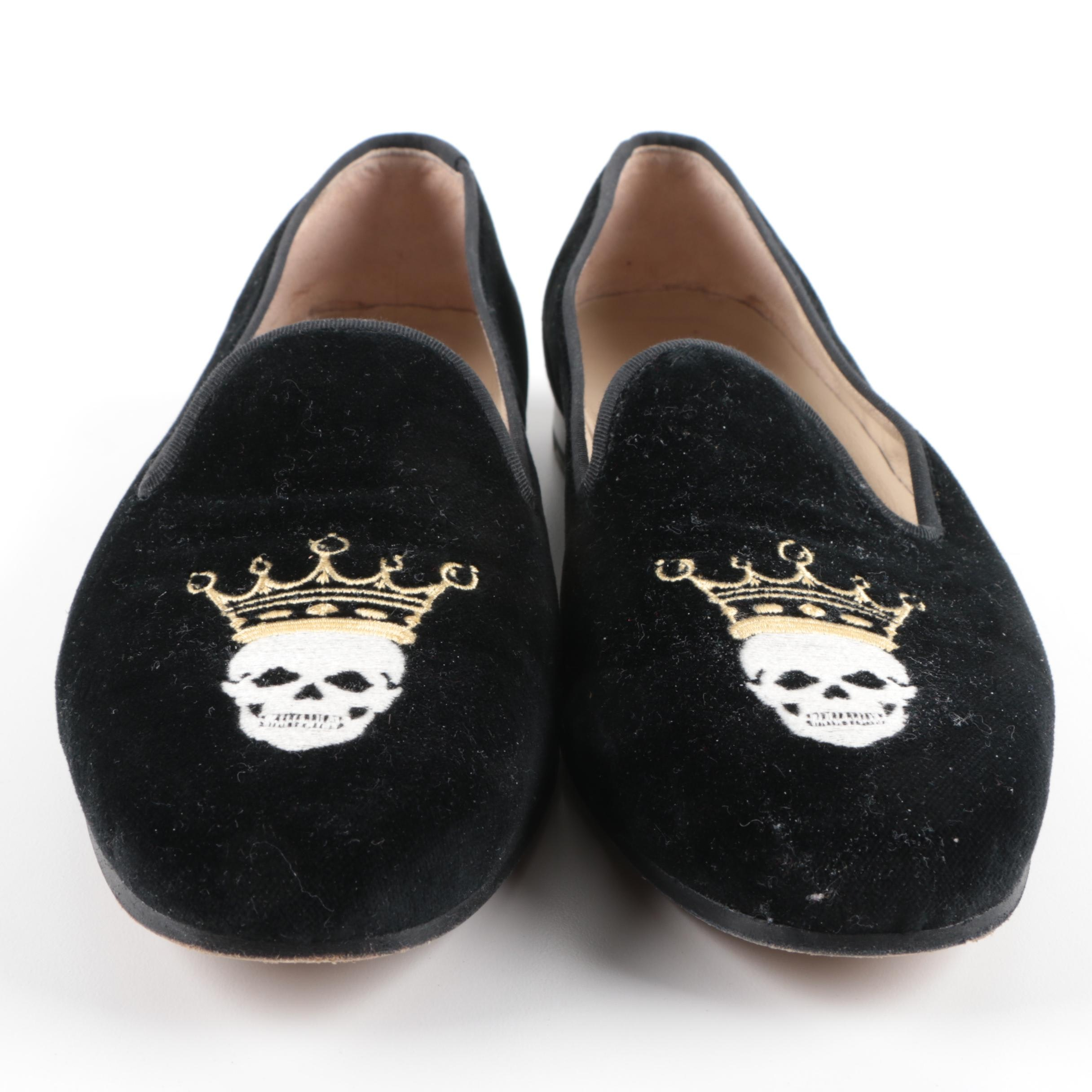 Stubbs & Wootton Embroidered Smoking Slippers