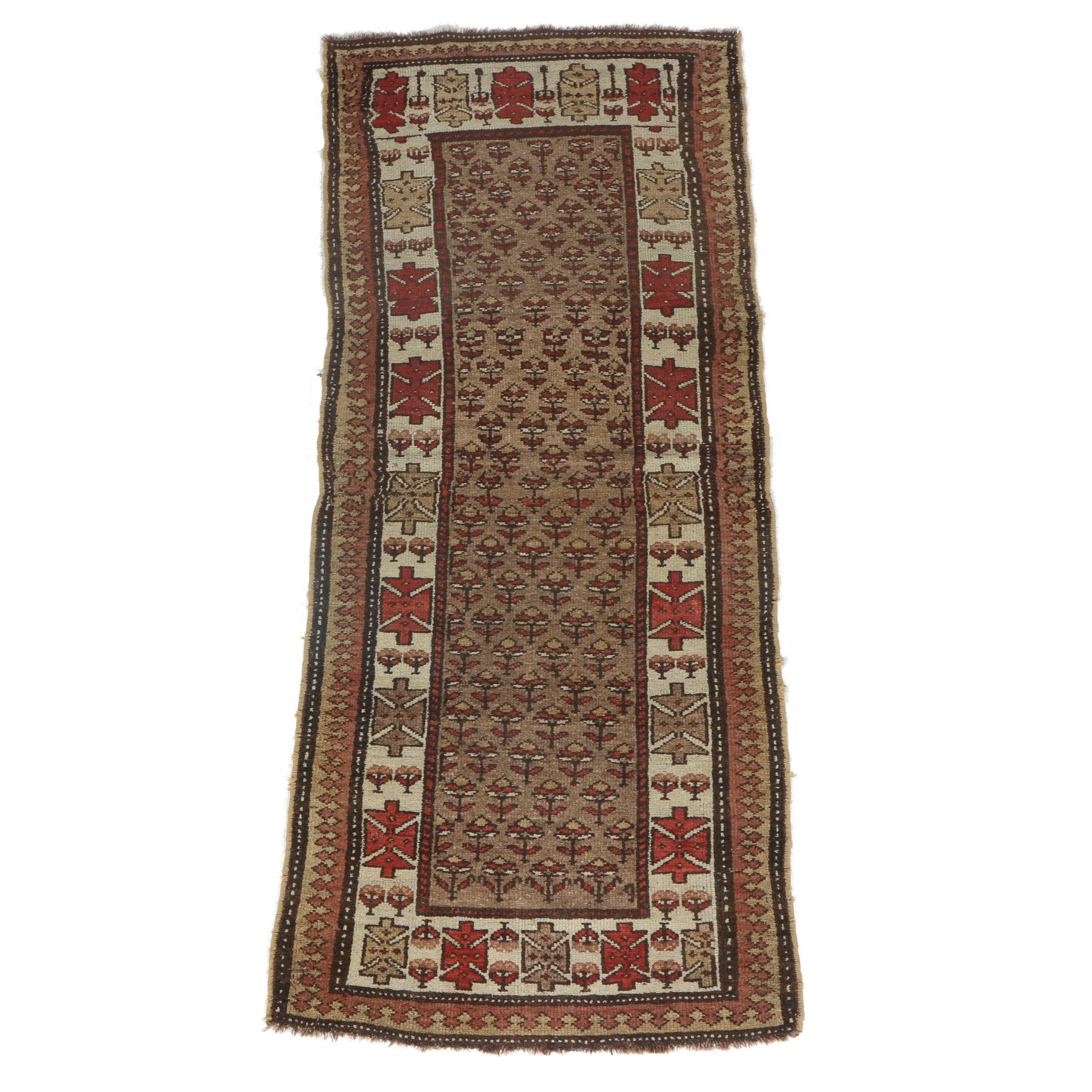 Semi-Antique Kurdish Carpet Runner