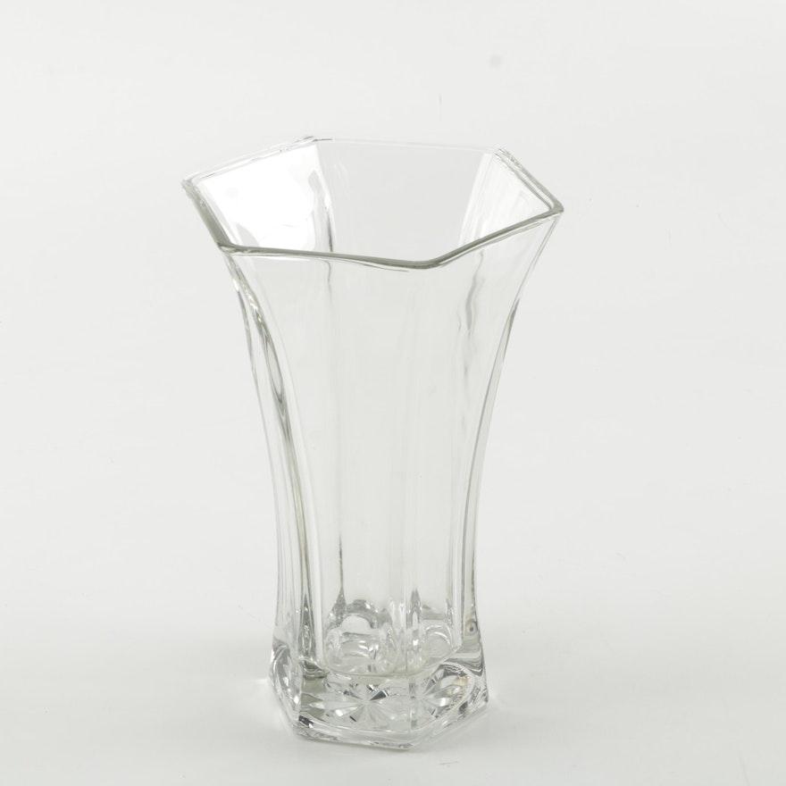 Vintage Hooser Glass Flower Bouquet Vase Ebth