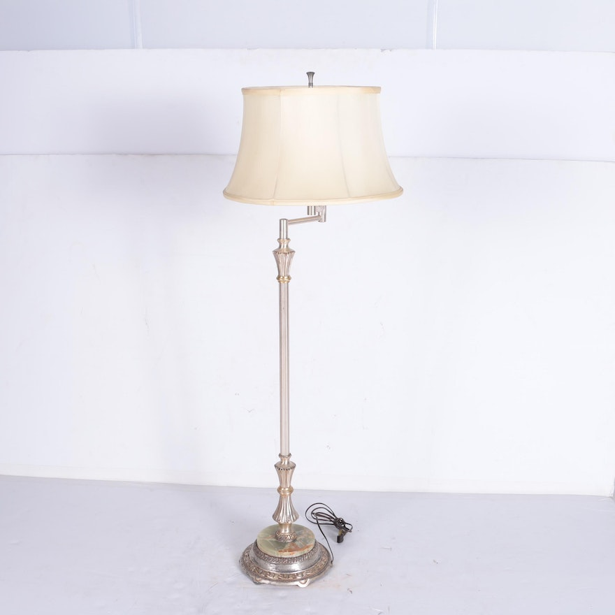 Colonial premier co floor lamp with agate base ebth colonial premier co floor lamp with agate base aloadofball Images