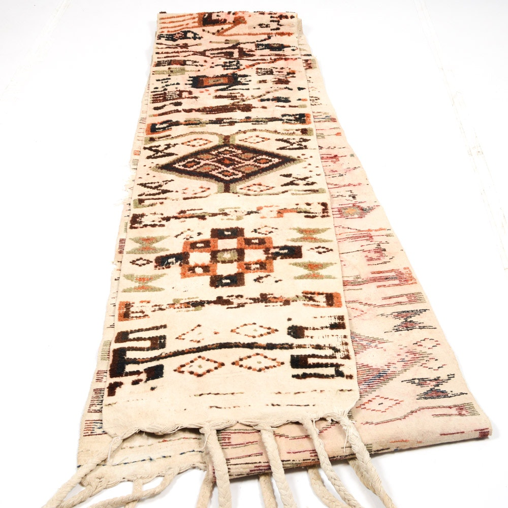 Wool and Cotton Pictorial Textile Runner