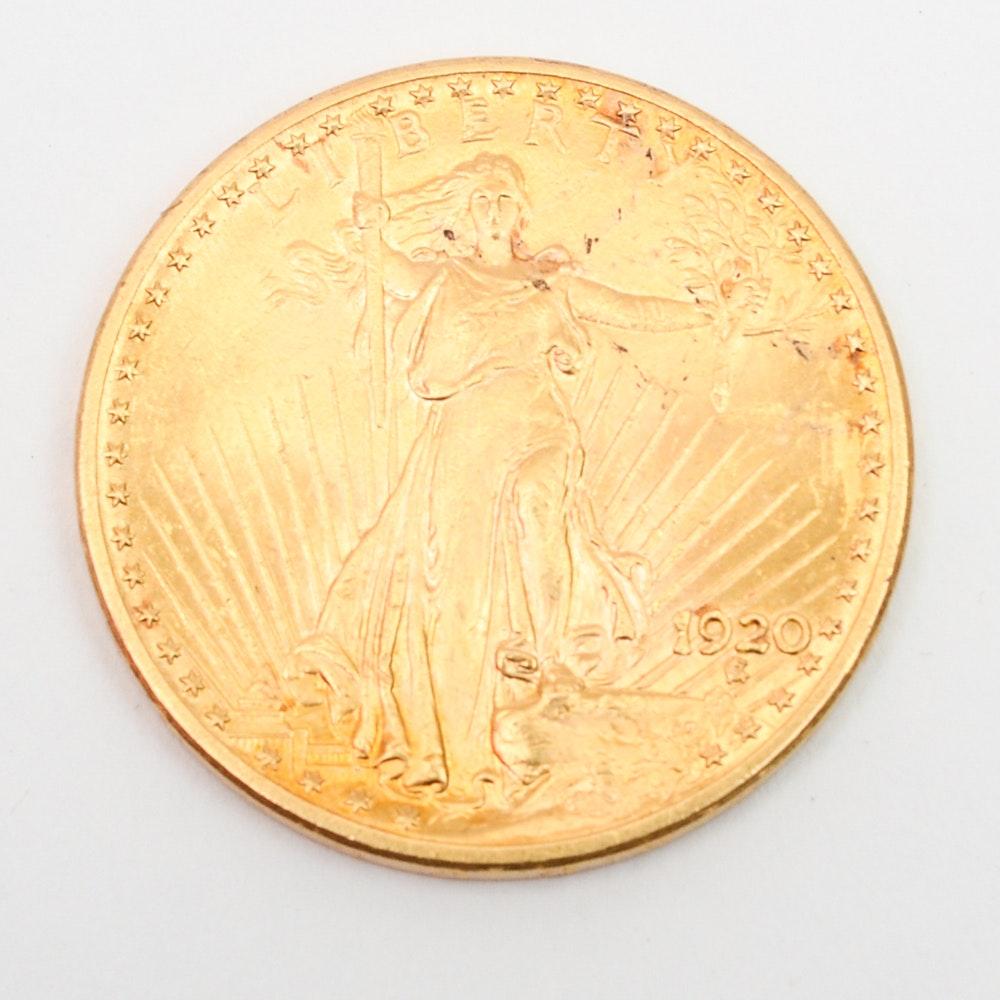 1920 Saint-Gaudens Double Eagle Gold Coin