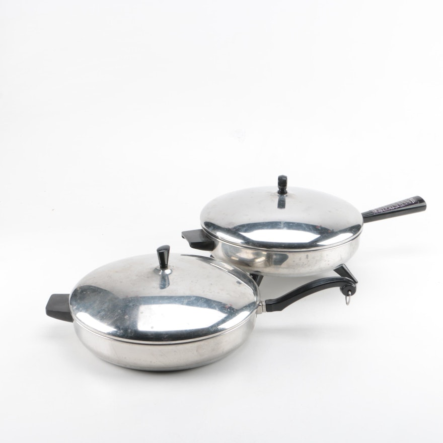 Farberware Aluminum Clad Stainless Steel Frying Pans