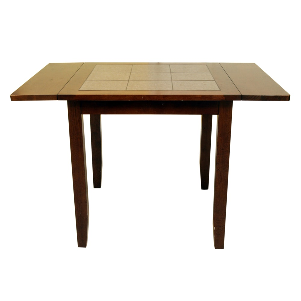 Drop Leaf Occasional Table with Tile Top