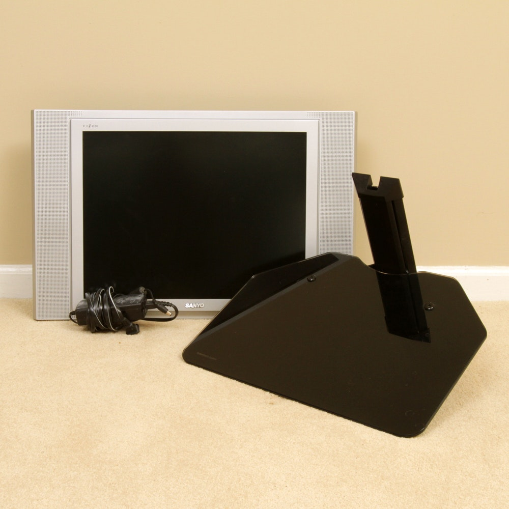 """Sanyo 20"""" Television with Stand, Wall Arm and Shelf"""