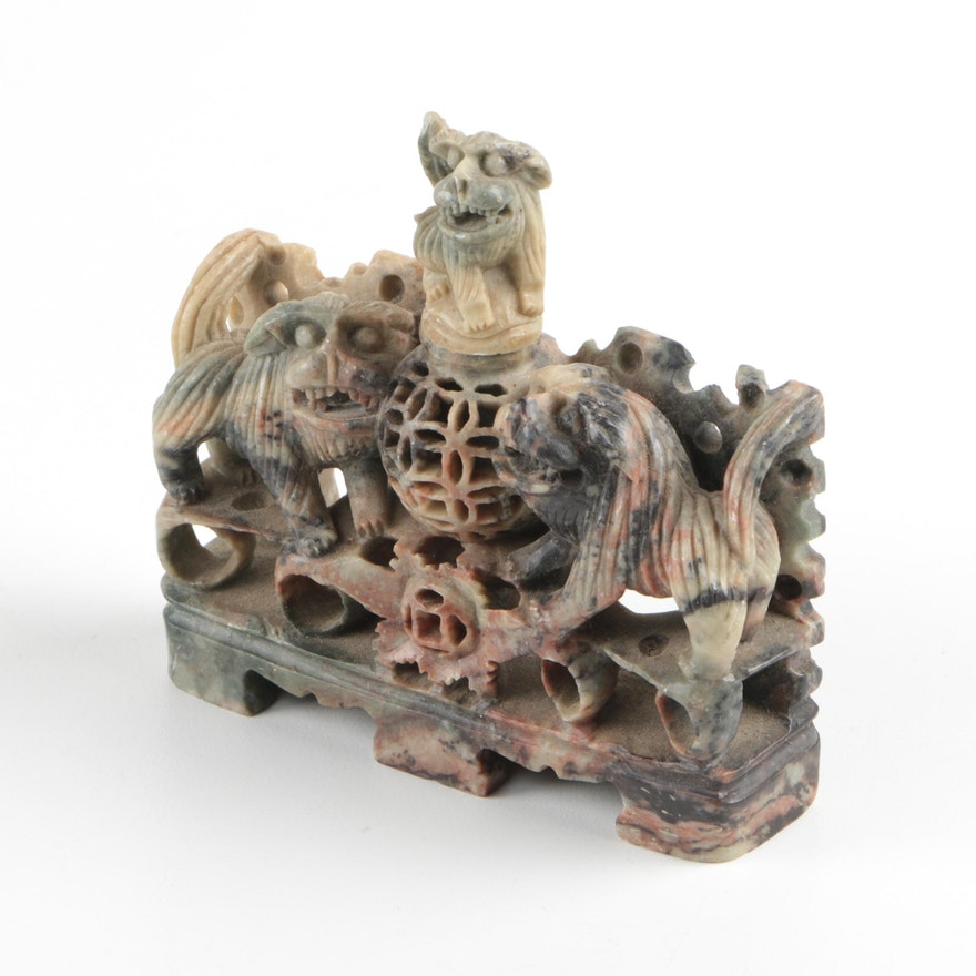 Chinese soapstone carving ebth