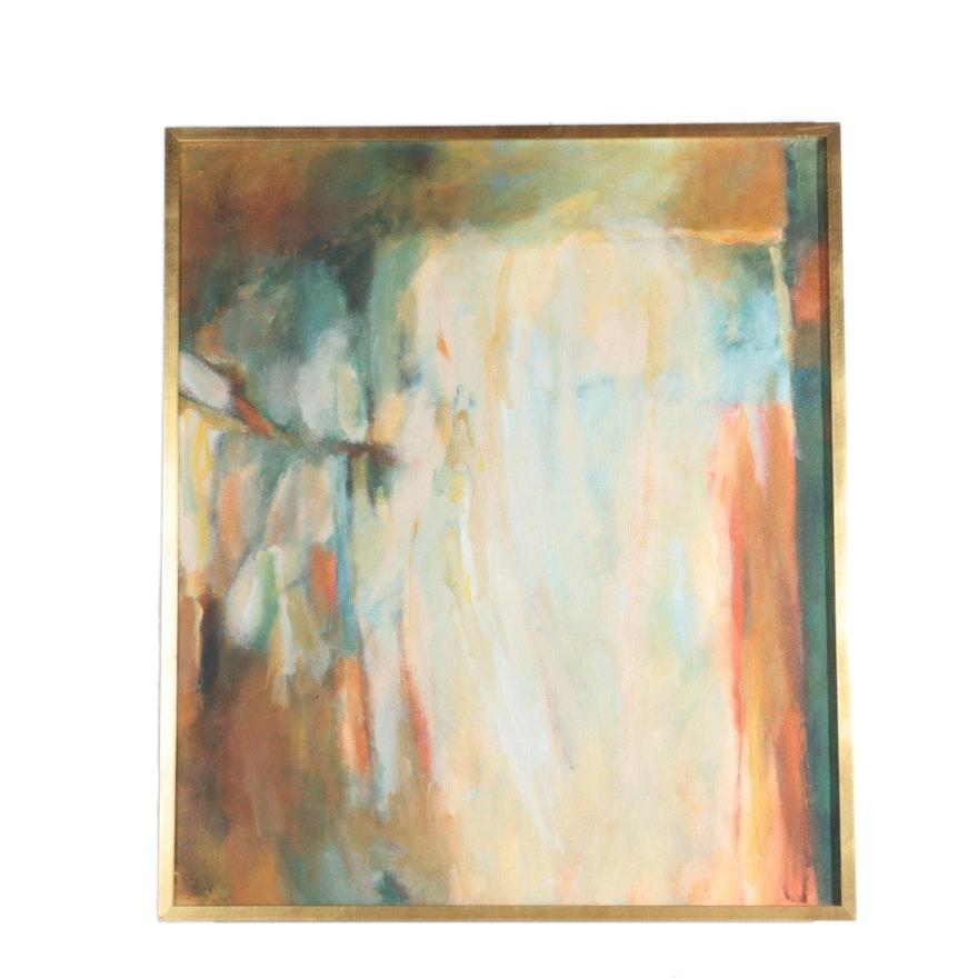 Framed Abstract Acrylic Painting on Canvas : EBTH