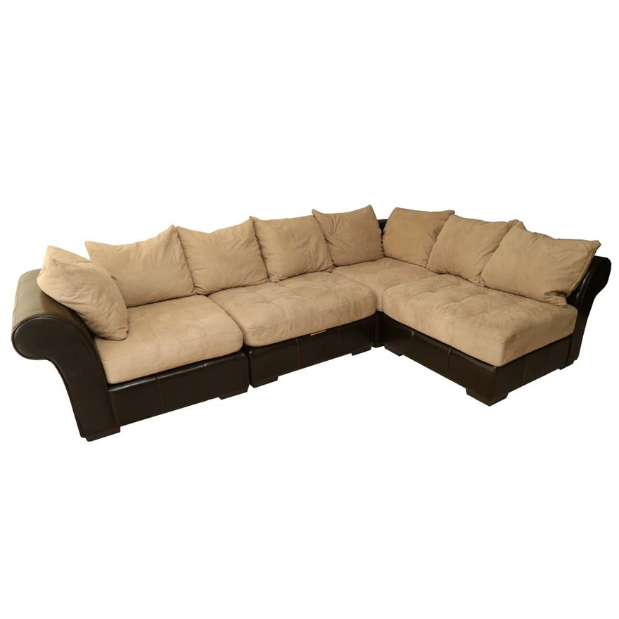 Contemporary Five Piece Sectional Sofa By Haverty S