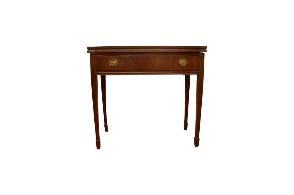 Vintage Hepplewhite Style Mahogany Game Table