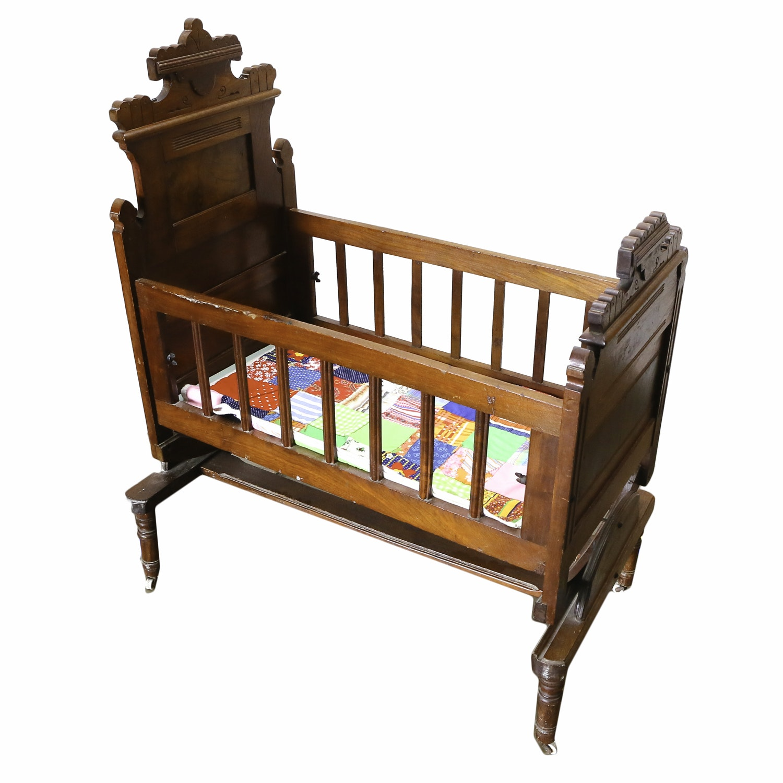 Vintage Eastlake Style Crib