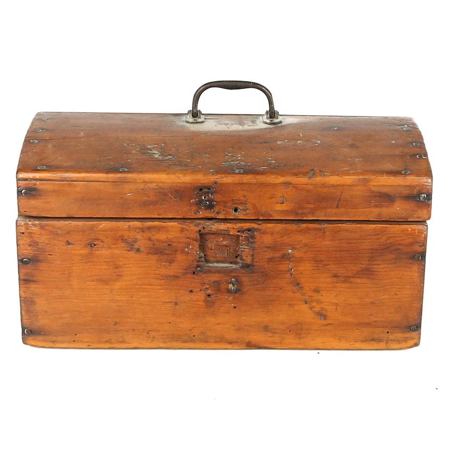 Antique Wooden Tool Box Ebth