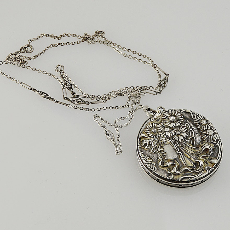 mirror necklace img tree shop silver of life