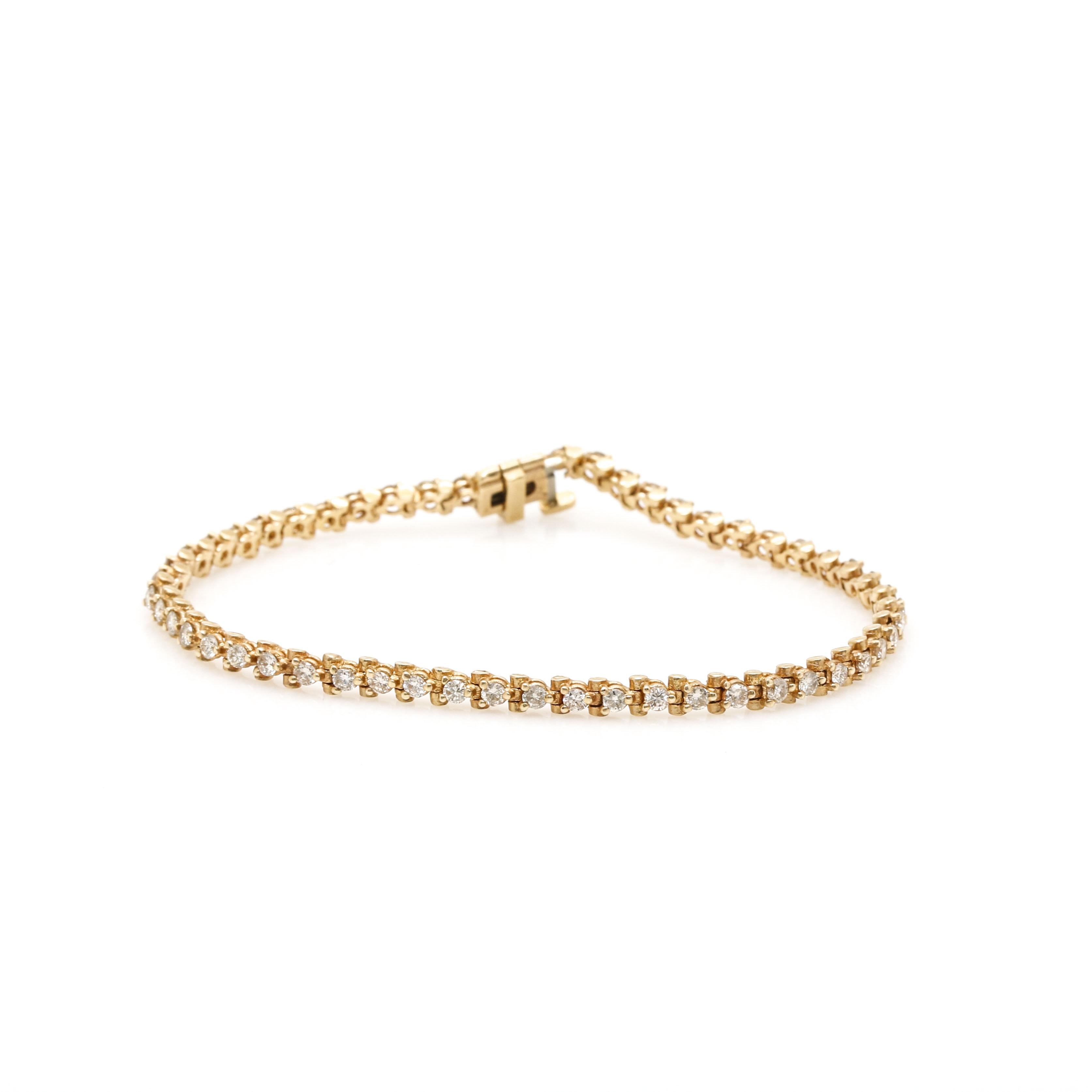 14K Yellow Gold 1.62 ctw Diamond Bracelet