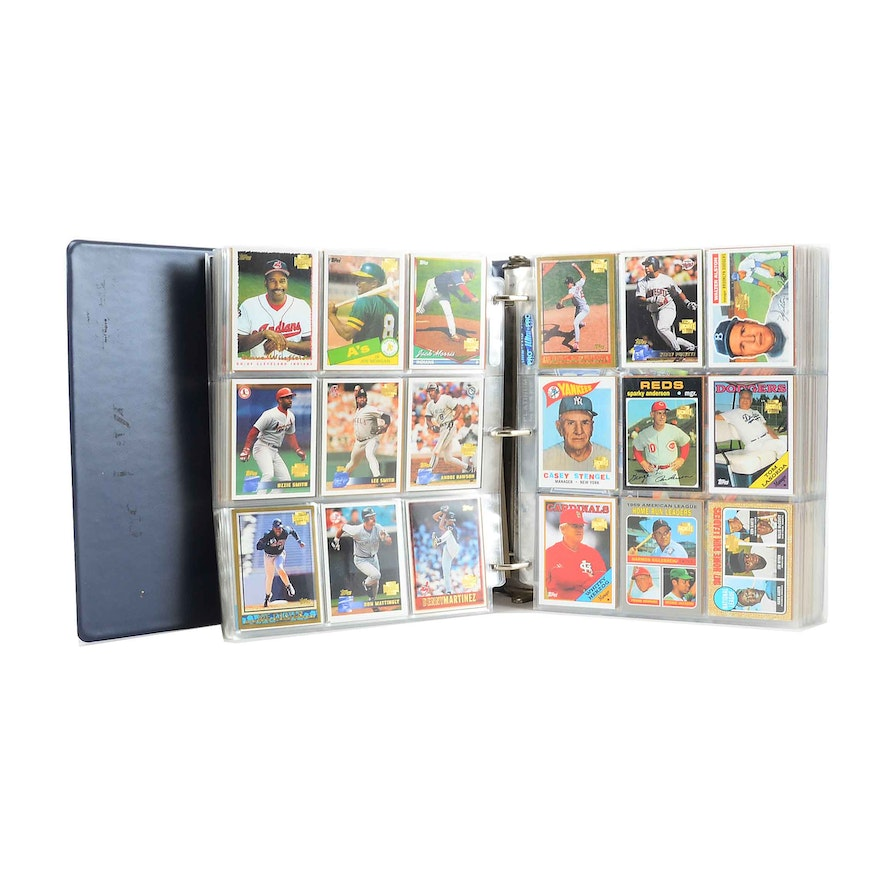 2001 And 2002 Topps Archives Baseball Cards In Vinyl Binder